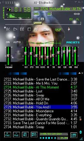Contoh winamp skin with own picture