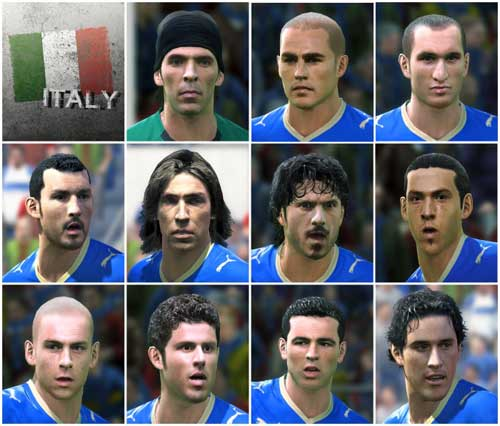 Italy Soccer Squad 2010 - KONAMI PES 2010