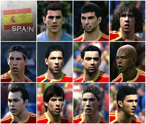 Spain Soccer Squad 2010 - KONAMI PES 2010 FREE DOWNLOAD