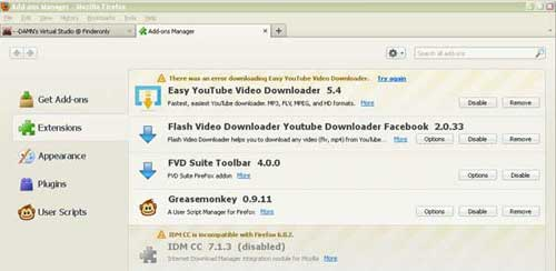 Video download add on