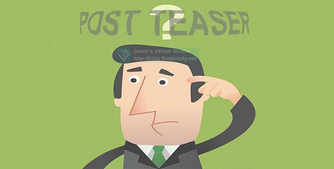 Membuat Post Teaser tanpa Plugin