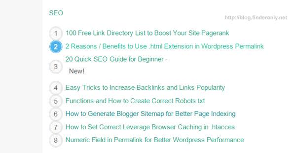 Membuat Widget Daftar Isi Blogger - Table of Contents