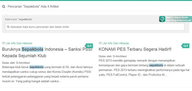 Highlighting Kata Kunci di Hasil Pencarian WordPress