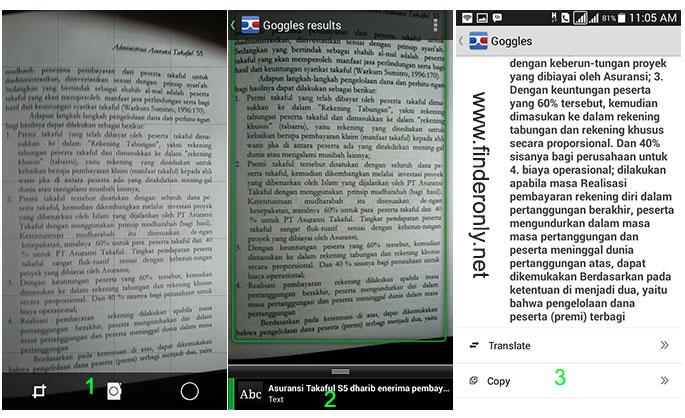 Tahapan Trik Copy Paste Teks dari Buku Foto
