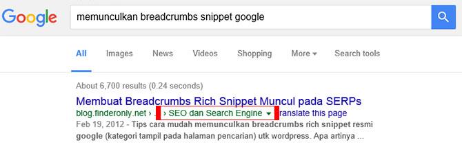 Cara Pasang Google Breadcrumb WordPress tanpa Plugin