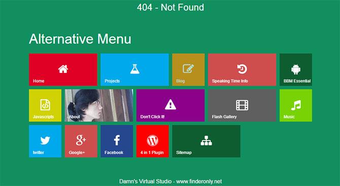 Gambar Halaman 404 Keren Style Modern Metro