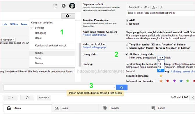 Cara Membatalkan / Menarik Email Terkirim