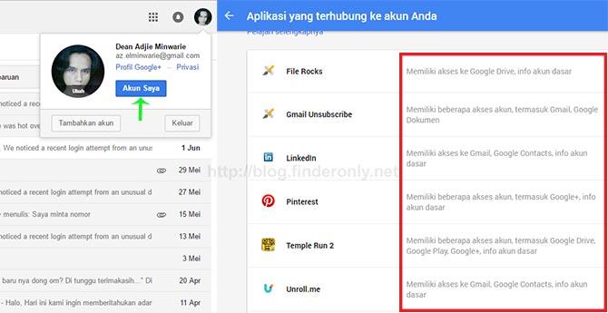 Ketahui Situs / Aplikasi yang Mengintai Akun Google Anda