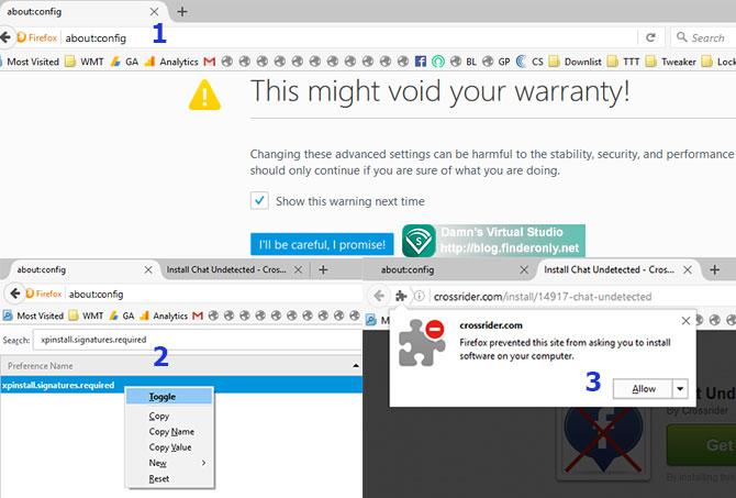 Cara Pasang Addon yang Diblokir pada Firefox