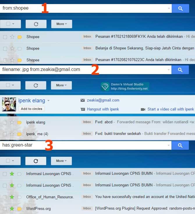Tips Pintar Pencarian Email / menemukan Arsip Email