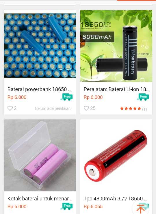 Harga Baterai Powerbank