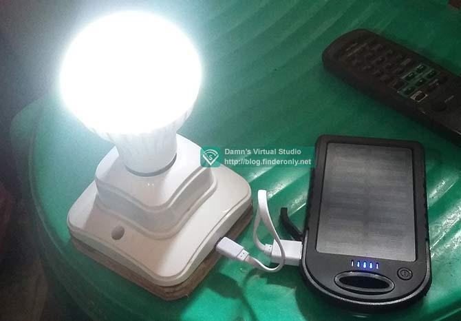 Bukti Menyulap Powerbank Jadi Lampu Darurat (LED ac 220v)