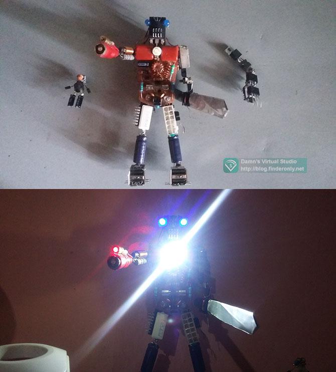 Robot JT dari Komponen Elektronik