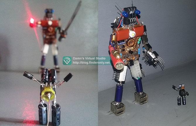 Hiasan Robot dari Sampah Komponen Elektronik