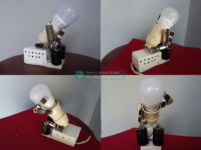 Fitting Tempat Lampu Bentuk Robot dari Barang Bekas