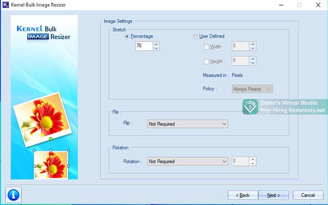 Mengecilkan Foto dengan Kernel Bulk Image Resizer langkah 2
