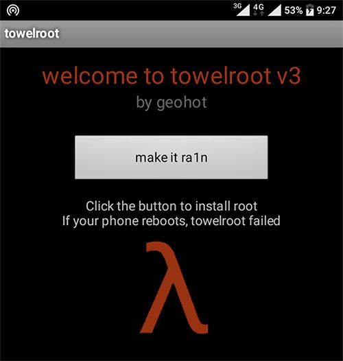 Root Mudah dengan Towelroot