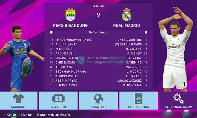 PES 2017 Basa Sunda Menu Mulai Game