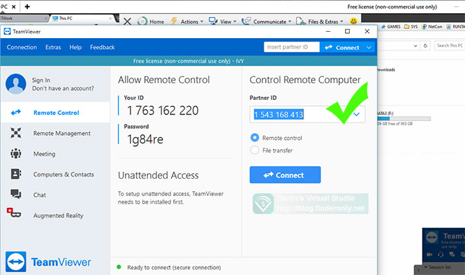 Setting TeamViewer untuk Remote Komputer via internet