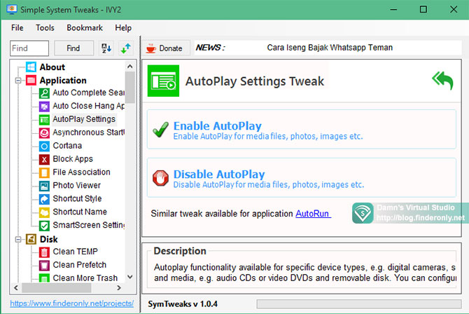 Perbedaan Autoplay vs Autorun & enable disable automatically