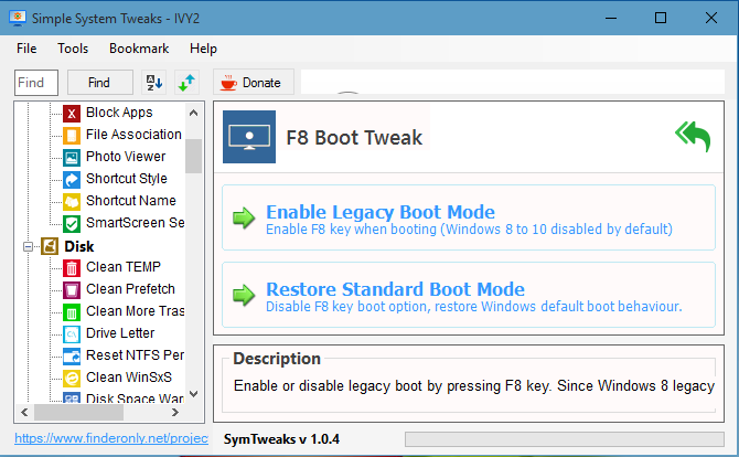 Kembalikan Tombol F8 Boot ke Safe Mode Windows 10