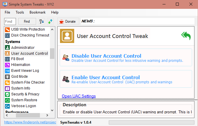 Hilangkan Peringatan User Account Control (UAC)