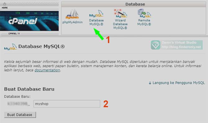 Membuat Database di CPanel
