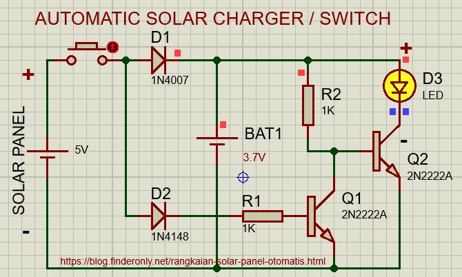 Skema Rangkaian Solar Panel Otomatis